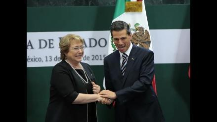 Bachelet destaca el alto nivel de las relaciones entre Chile y México