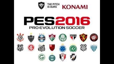 PES 2016: los 20 equipos del Brasileirão estarán en el juego